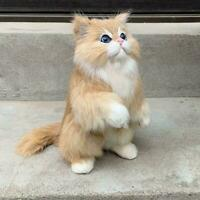 1xFake Lifelike Cat Plush Toy Simulation Stuffed Animal Kids Fluffy Doll W2G5