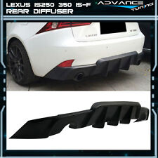 14-16 Lexus IS250  350 Rear Bumper Lip Diffuser Black - Poly Urethane PU
