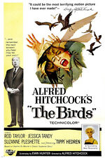 CLASSIC HITCHCOCK The Birds Movie Poster TIPPI HEDREN Psycho Thriller 24X36