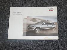2009 Audi Q7 Owner Manual User Guide Quattro 3.6 Premium 3.0 TDI 4.2 Prestige