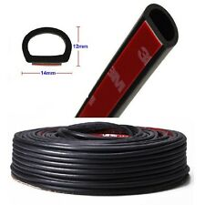 "4M D-shape 157"" Car Door Rubber Seal Hollow Weatherstrip Adhesive US Shipping"
