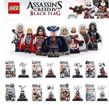 Lego Compatible Assassin's Creed Black Flag Minifigures Lot of 8 Ezio Kenway