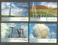 Australia: full set of 4 used stamps, Renewable Energy, 2004, Mi#2302-5