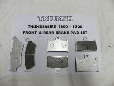 Up to 2017 * TRIUMPH BONNEVILLE FRONT /&  REAR BRAKE PADS 2 X SET = 4 pads
