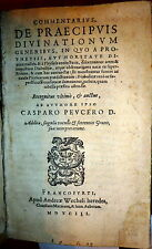 1593  Divination and Magic Commentary by Peucer.  In Latin.  Vellum Binding