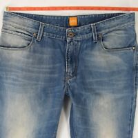 Mens HUGO BOSS ORANGE 63 Slim Straight Blue Jeans W35 W36 L34