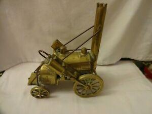 Antique Rare Heavy Gauge Brass Collectors Stephenson`s Rocket Model Height 23 cm