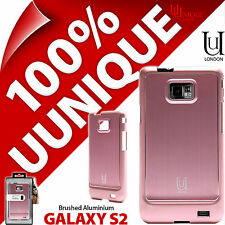 NUOVO Uunique RIGIDA CUSTODIA PER SAMSUNG GALAXY i9100 s2 SII cover in alluminio rosa