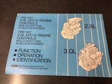 New listing 1986 1987 Ford 2.9L & 3.0L Eec-Iv Engine Control Systems Service Manual