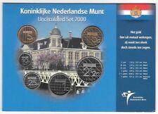 NETHERLANDS ROYAL DUTCH MINT UNC SET 2000 6 Coins 5 Cents - 5 Gulden B3