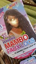 """JANET COLLECTION SYNTHETIC HAIR CROCHET BRAIDS 2X HAVANA MAMBO FAUX LOCS 18"""" #27"""