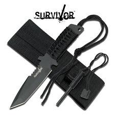 KNIFE COLTELLO DA CACCIA SURVIVOR 760 CON ACCIARINO FUOCO SURVIVAL SOPRAVVIVENZA