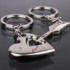 Wholesale Valentine's Day Lover Gift Silver Chic Keychain Keyring Heart Keyfob
