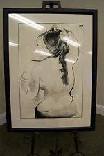 Muriel Branegan Bacon ORG Brush Drawing Hawaiian FRANGIPANI 28 x 36 LISTED ART