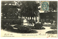 CPA 69 Rhône Tarare Jardin de l'Hôtel de ville animé