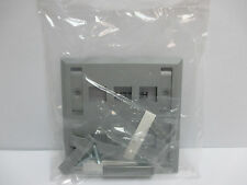 Hubbell Premise Wiring - FPL26G 2 Gang 6 Port Wall Plate With ID Plate - Grey