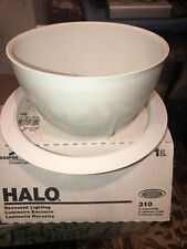 "Halo 6"" Inch White Baffle Recessed Can Trim 310W - Seven (7) Pieces - Brand New"