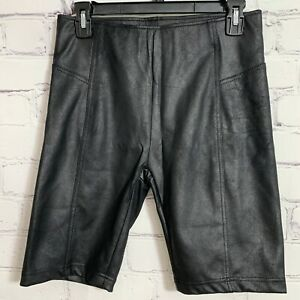 Free People Women's Biker Shorts Small Black Coated New