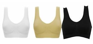 Seamless SPORTS STYLE BRA Crop Top Vest Comfort Stretch Bras Shape Wear UK