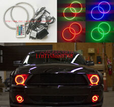 2x RGB LED Angel Eyes kit Multi-Color Ultrabright angel For Ford Mustang 2005-09