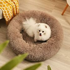 New listing Calming Dog Bed for Small Medium Large Dogs Cats S (20''X20'& #039;) LightCoffee