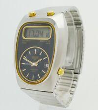 Vintage 70er HEUER Senator GMT Chronosplit Quartz LCD Referenz 107.403 - TOP