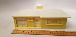 Vintage Plasticville Home with Attached Garage - Yellow and Cream