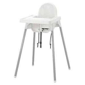 IKEA ANTILOP Kinderhochstuhl mit Tablett Sitzgurt Babysitz Hochstuhl weiß NEU