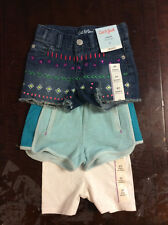 3 Pairs Of Cat & Jack Shorts For Girls (Size 2T) Lot Of 3