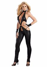 Faux Leather X-Strap Catsuit Stripper Outfit Slave Girl BDSM