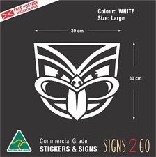 NZ WARRIORS CAR STICKER For Car Ute 4x4 Truck Bus Waterproof Large size 30x30cm