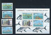 Kiribati MiNr. 378-81 und Block 9 postfrisch MNH Schiffe (Schif591
