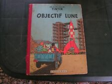 bd  de collection tintin    objectif lune   1954