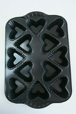 NORDIC WARE 12 hole heart shaped tin mould Lightly used Good con