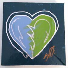 Steve Kaufman MINI-HEART Signed Painting