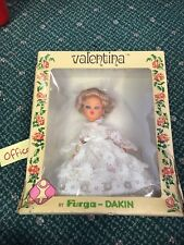 Vintage Italian Valentina Vinyl Bride Doll By Furga Dakin Made In Hong Kong 1977