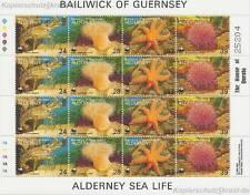 ALDERNEY - 1993 WWF KLEINBOGEN TIERE ANIMALS MEERESFAUNA 61-64 **