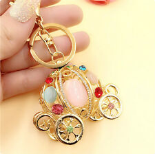 CUTE CRYSTAL HAPPY PUMPKIN CAR CAR PENDANT PURSE CHARM KEYCHAIN