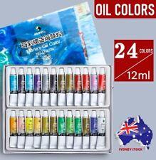 24 Marie's Oil Colors 12ml Tube Set High Pigments Artist Painting Oil Paint Set