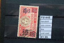 FRANCOBOLLI ITALIA COLONIE LIBIA USED USATI (F91448)