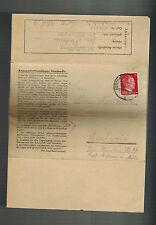 1944 Germany Auschwitz KZ Concentration Camp Cover Jan Neubaur to Budweis