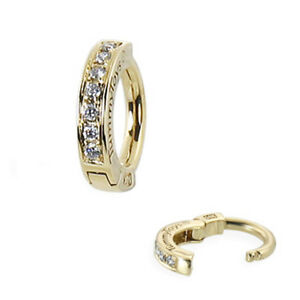 TummyToys 14K Yellow Gold Navel Ring - Pave Set with 7 Real Diamonds [TT-37006]