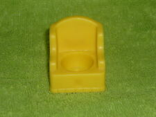 Fisher Price Little People Vintage Yellow Wing Chair