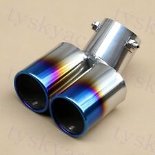 "63mm Inlet 2.5"" Caliber Vehicle Parts Rear Exhaust Tail Muffler Pipe Tip Cover"