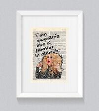 RuPaul Katya I am sweating like a hooker Vintage Dictionary Book Print Wall Art