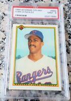 JUAN GONZALEZ 1990 Bowman TIFFANY RARE SP Rookie Card RC PSA 9 Rangers 434 HRs $