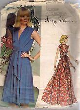 Vogue Designer Sewing Pattern 1116, Jerry Silverman Vintage Dress, Size 14