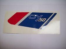 Aufkleber  Emblem Label Mark Honda CY 50 Dekor Weiß Seitendeckel rechts