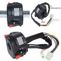 22mm Motorrad ATV Lenker Hupenschalter Low / Fernlichtsteuerung mit 11 Kabelbaum