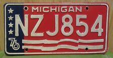 Expired 1976 Michigan Great Lake State License Plate ( NZJ854 }